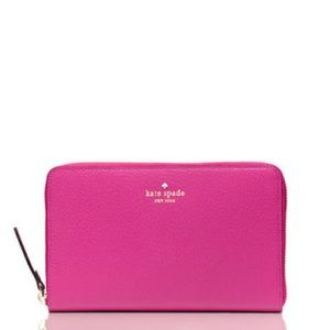 Kate Spade Pink TRAVEL Wallet Passport Pink NWT!